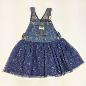 Oshkosh Bgosh Blue Tutu Dress Overalls Sparkle 3T